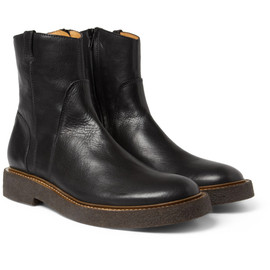 Maison Martin Margiela 22 - CREPE-SOLE LEATHER BIKER BOOTS