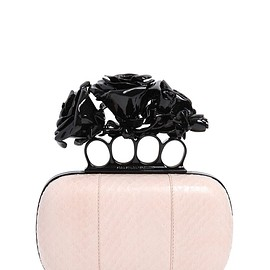 Alexander McQueen - FW2015 ROSES SNAKESKIN KNUCKLE BOX CLUTCH