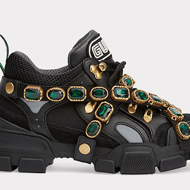 GUCCI - FW2018 Flashtrek sneaker with removable crystals