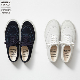 SOPHNET. x nonnative WING-TIP SNEAKER by GENERIC SURPLUS - WING TIP SHOES