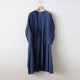 YAECA|WOMEN - A LINE ROBE #NAVY [68701]
