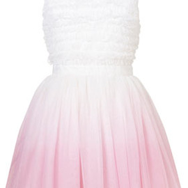 TOPSHOP - **Petite Dip-Dye Ruffle Dress by Dress Up Topshop