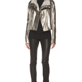 RICK OWENS - Classic Biker Jacket in Gold