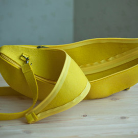 Yellow felt Banana Bag