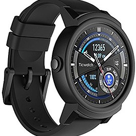 Ticwatch - Ticwatch E most comfortable Smartwatch-Shadow,1.4 inch OLED Display, Android Wear 2.0,Compatible wit