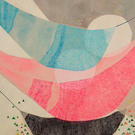 Misato Suzuki - Daydreaming Hammocks, Acrylic on Canvas