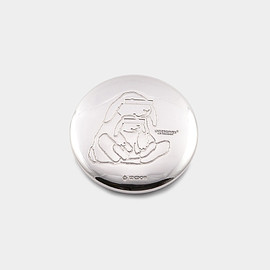 BUNNEY, UNDERCOVER - 34MM SPECIAL UNDERCOVER 'RABBITS' BADGE 925 SILVER