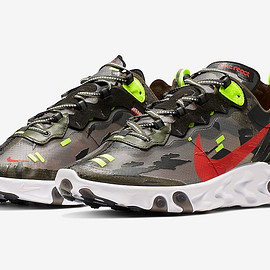 NIKE - React Element 87 - Medium Olive/Black/Volt/Bright Crimson