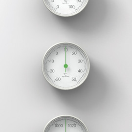 Naoto Fukasawa, Magis - The Meteo; set of barometer, thermometer and hygrometer with a special stand