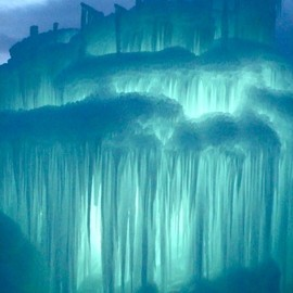 Colorado USA - Midway Ice Castles in Silverthorne,