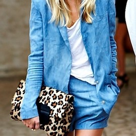 denim/ leopard bag.