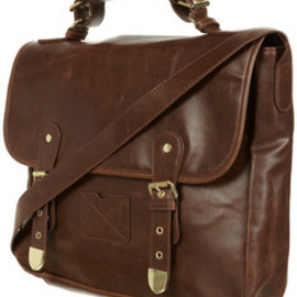 TOPSHOP - Chocolate Buckle Satchel