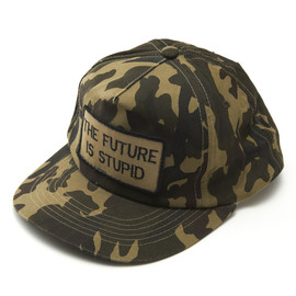 Jenny Holzer - THE FUTURE IS STUPID CAMOUFLAGE Baseball cap