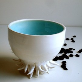 Sea Urchin Porcelain Cup / Bowl - MADE TO ORDER