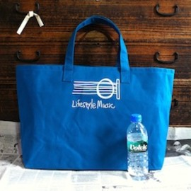 新井仁/6sHIKI - Guitar Sound Hole Tote Bag (Big) Turquoise Blue