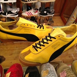 "PUMA - 「<used>70's PUMA GOLD FIT gold/black""made in YUGOSLAVIA"" size:UK8/h(27-27.5cm) 23800yen」完売"