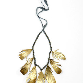 Aurélie Bidermann - gold feather necklace