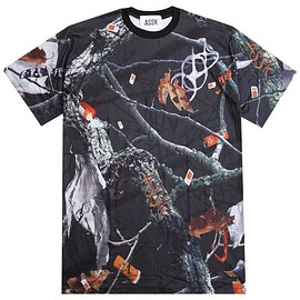assk - APOCALYPTIC FOREST TSHIRT - Black