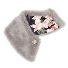 Ted Baker - Faux fur collar