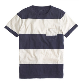 J crew - surf stripe pocket tee
