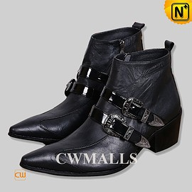 CWMALLS - CWMALLS® Pointed Toe Italian Leather Boots CW750227