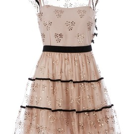 RED VALENTINO - Salmon pink empire line dress