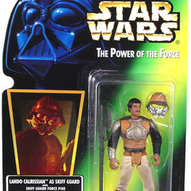 kenner - STAR WARS POTF2 Green Card Lando Calrissian Skiff Guard