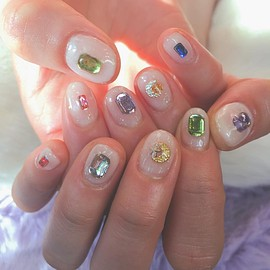 Rosett BY broocH - キラキラ nail