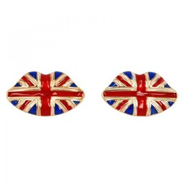 hallomall - Union Jack Lips Earrings