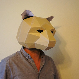 Wintercroft - Make your own bear mask from recycled card, perfect for festivals