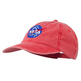NASA - NASA Insignia Embroidered Pigment Dyed Cap - Red OSFM