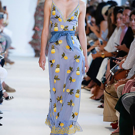 Altuzarra - Altuzarra Lemon & Pineapple Sleeveless V-Neck Gown
