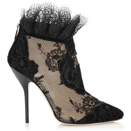 JIMMY CHOO - Suede and lace Kamaris