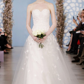 oscar de la renta bridal 2014 spring tulle sweetheart wedding dress