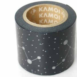 Japanese masking tape gold black stripe patchwork