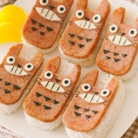Totoro smoked tofu, studio ghibli food
