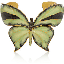VALENTINO - Enameled gold-tone butterfly cuff