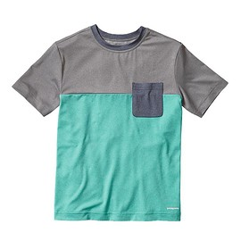 patagonia - Boys' Capilene Daily Colorblock Tee - Howling Turquoise