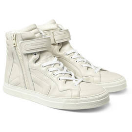 PIERRE HARDY - Leather High Top Sneakers