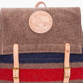 Yuketen - Striped Wool Canoe Backpack