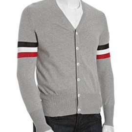 MONCLER GAMME BLEU - MGB grey cotton cardigan in 2011SS