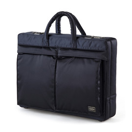 "HEAD PORTER, UNITED ARROWS & SONS, B印 YOSHIDA - ""TANKER-STANDARD"" ATTACHE CASE NAVY"