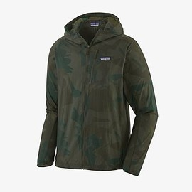 patagonia - Men's Houdini® Jacket - Painted Fields Big: Crop Green PFBG