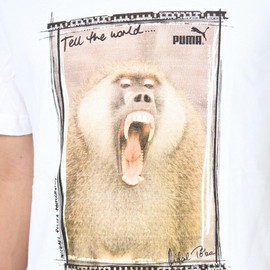 Puma - Wilderness Collection - Vintage Baboon Tee in White