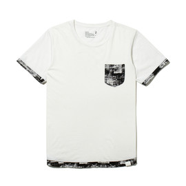 White Mountaineering - DOWN TOWN COTTON JERSEY HEM CONTRAST T-SHIRT