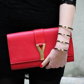 YVES SAINT-LAURENT - clutch.