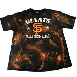 MLB - San Francisco Giants Camo Logo Bleached Shirt Mens Size XL