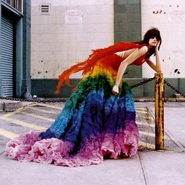 Alexander McQueen - Rainbow shipwreck dress