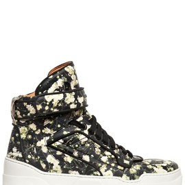 GIVENCHY - TYSON FLORAL LEATHER HIGH TOP SNEAKERS