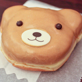 Mister Donut - Almond cream bear donut